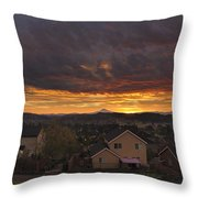 Sunrise Over Happy Valley Throw Pillow