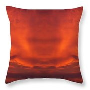 Sunrise Over Jackson Michigan Mirror Image Throw Pillow