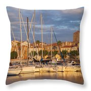 Sunrise Over La Ciotat France Throw Pillow