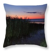 Sunrise Over Lake Huron Throw Pillow