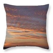 Sunrise Over Lake Manistee Throw Pillow