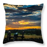 Sunrise Over Little Round Top Throw Pillow