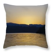 Sunrise Over Lough Eske And The Bluestack Mountains Throw Pillow
