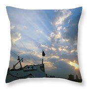 Sunrise Over Philadelphia  Throw Pillow