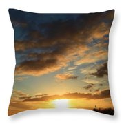 Sunrise Over Port Angeles Throw Pillow