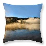 Sunrise Over Scotts Flat Lake Throw Pillow