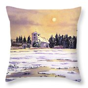 Sunrise Over St Botolph's Church Throw Pillow by Bill Holkham