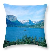 Sunrise Over St. Mary Lake, Glacier Throw Pillow