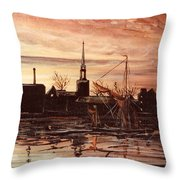 Sunrise Over St Marys Church And Rotherhithe London Throw Pillow