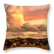 Sunrise Over Strawberry Estate - Horizontal Throw Pillow