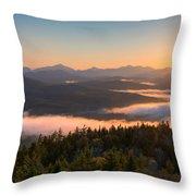 Sunrise Over The Adirondack High Peaks Throw Pillow