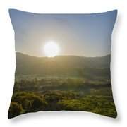 Sunrise Over The Bluestack Mountains - Donegal Ireland Throw Pillow