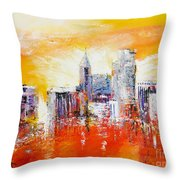 Sunrise Over The City Of Oaks Throw Pillow