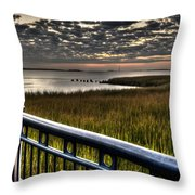Sunrise Over The Cooper River Throw Pillow