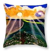Sunrise Over The Darren Throw Pillow