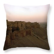 Sunrise Over The Fort Throw Pillow