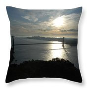 Sunrise Over The Golden Gate Throw Pillow