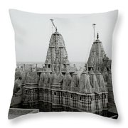 Sunrise Over The Jain Temples Throw Pillow