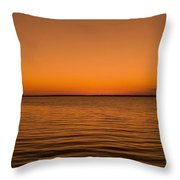 Sunrise Over The Lake Of Two Mountains - Qc Throw Pillow