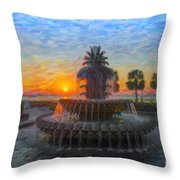 Sunrise Over The Pineapple Throw Pillow