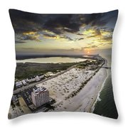 Sunrise Over The Royal Palms Throw Pillow