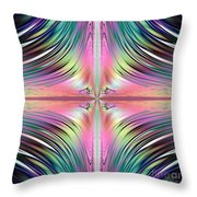 Sunrise Over The Waterfalls Fractal Throw Pillow