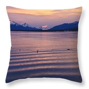 Sunrise Over Ultima Esperanza Throw Pillow