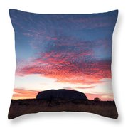 Sunrise Over Uluru Throw Pillow