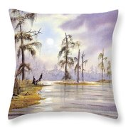 Sunrise Over Wakulla River Throw Pillow