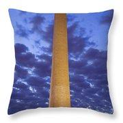 Sunrise Over Washington Monument Throw Pillow