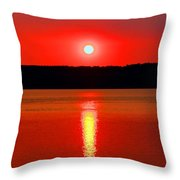 Sunrise Over Whidbey Island Throw Pillow