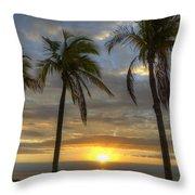 Sunrise Palms Throw Pillow
