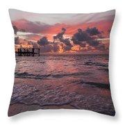 Sunrise Panoramic Throw Pillow by Adam Romanowicz