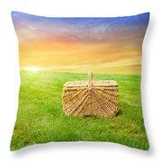 Sunrise Picnic Basket Throw Pillow