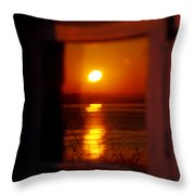 Sunrise Refection Throw Pillow