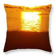 Sunrise - Reunion Island - Indian Ocean Throw Pillow by Francoise Leandre