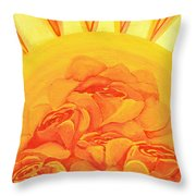 Sunrise Roses Throw Pillow