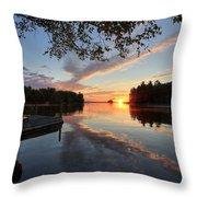 Sunrise Seat - Millinocket Lake Throw Pillow