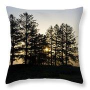 Sunrise Shines Through The Pines Throw Pillow