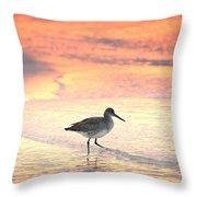 Sunrise Shorebird Throw Pillow