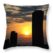 Sunrise Silhouette Buffalo Ny V2 Throw Pillow