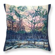 Sunrise Stillness Throw Pillow by Jean Ann Curry Hess