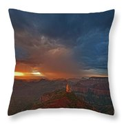 Sunrise Storm North Rim Grand Canyon Arizona Throw Pillow