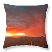 Sunrise Storm Point Imperial North Rim Grand Canyon Np Arizona Throw Pillow