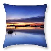 Sunrise Sunset Art Photo - Slip Slidin' By Jo Ann Tomaselli Throw Pillow