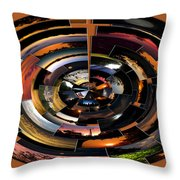 Sunrise Sunsets Polar View Throw Pillow