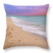 Sunrise Surf At Miami Beach  Throw Pillow