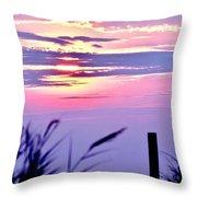 Sunrise Through The Dunes Throw Pillow