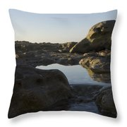 Sunrise Tidal Pool View Throw Pillow