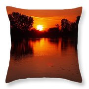Ottawa River Sunrise Throw Pillow